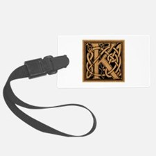 Celtic Monogram K Luggage Tag