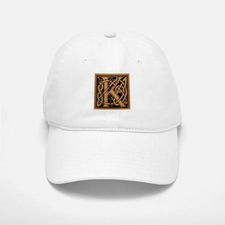 Celtic Monogram K Baseball Baseball Cap