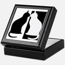 Black and white cats Keepsake Box