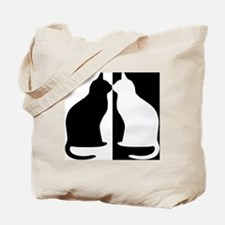 Black and white cats Tote Bag