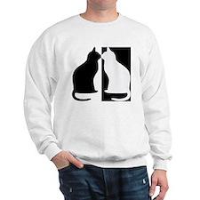 Black and white cats Sweatshirt