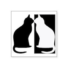 "Black and white cats Square Sticker 3"" x 3"""