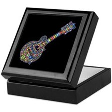 Mosaic Mandolin Keepsake Box