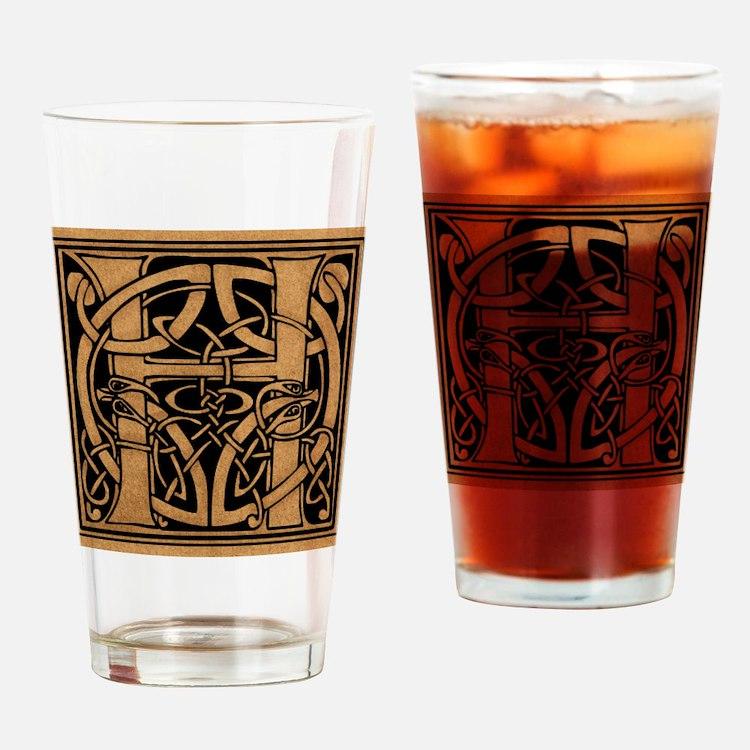 Celtic Monogram H Drinking Glass