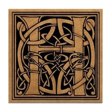 Celtic Monogram H Tile Coaster