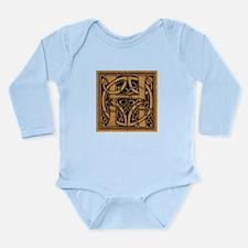 Celtic Monogram H Long Sleeve Infant Bodysuit