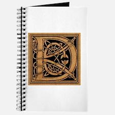 Celtic Monogram D Journal