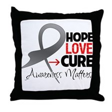 Brain Tumor Hope Throw Pillow