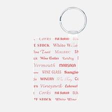 WINE WORDS Keychains
