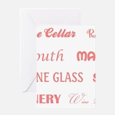 WINE WORDS Greeting Cards