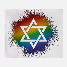 LGBT Judaic Star of David Throw Blanket