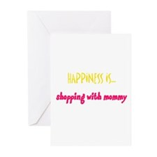 Happiness is Shopping with Mo Greeting Cards (Pack