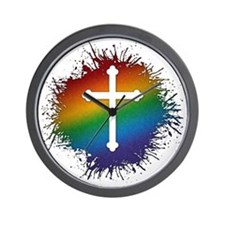 LGBT Christian Cross Wall Clock