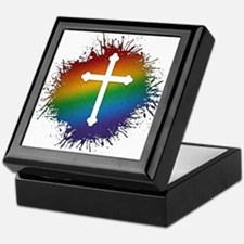 LGBT Christian Cross Keepsake Box