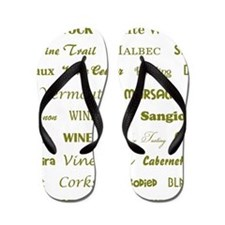 WINE WORDS Flip Flops