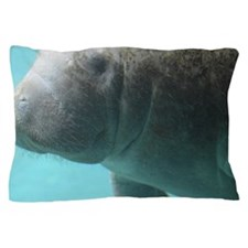 Swimming Manatee Pillow Case