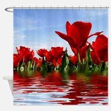 Flooded Tulips Shower Curtain