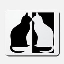 Black and white cats Mousepad