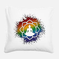 LGBT Buddhist Lotus Square Canvas Pillow