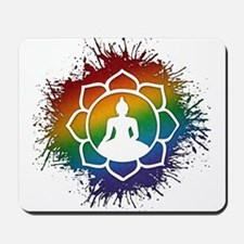LGBT Buddhist Lotus Mousepad