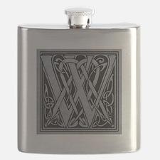 Celtic Monogram W Flask
