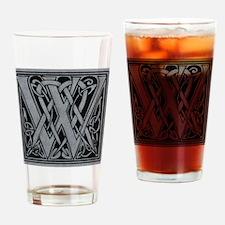 Celtic Monogram W Drinking Glass