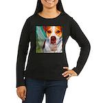 Pitbull Women's Long Sleeve Dark T-Shirt
