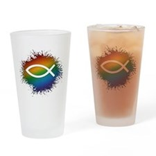 LGBT Christian Fish Drinking Glass