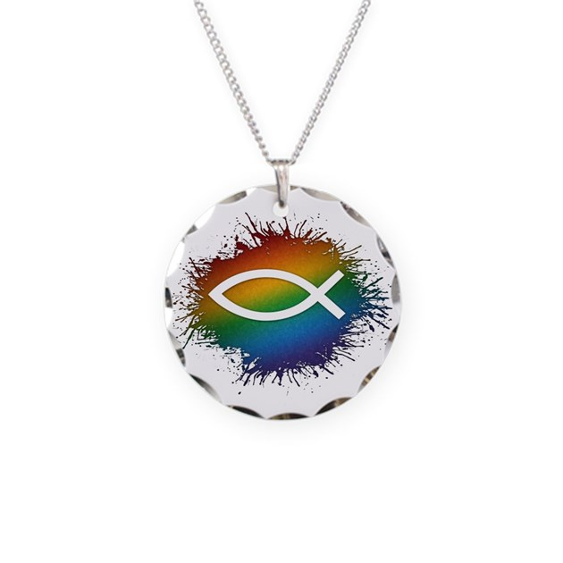 Lgbt christian fish necklace by liveloudgraphics2 for Christian fish necklace