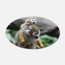Pair of Squirrel Monkeys Wall Decal