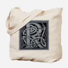 Celtic Monogram R Tote Bag