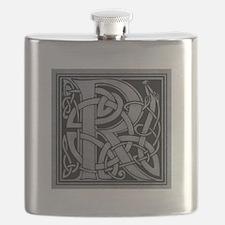Celtic Monogram R Flask