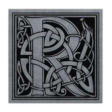 Celtic Monogram R Tile Coaster