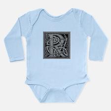 Celtic Monogram R Long Sleeve Infant Bodysuit