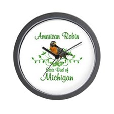 Robin Michigan Bird Wall Clock