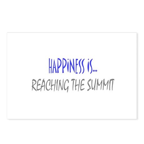 Happiness is Reaching Summit Postcards (Package of