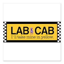 "Taxi Square Car Magnet 3"" x 3"""