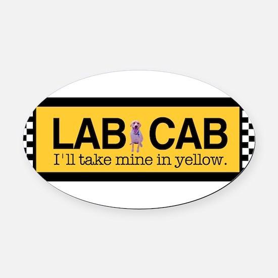 Unique Labrador yellow Oval Car Magnet