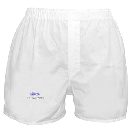 Happiness is Reaching Summit Boxer Shorts