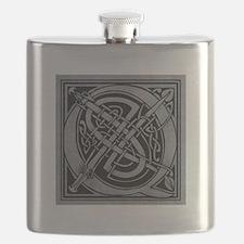 Celtic Monogram Q Flask