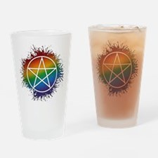 LGBT Pagan Pentacle Drinking Glass