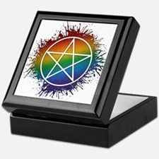 LGBT Pagan Pentacle Keepsake Box