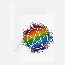 LGBT Pagan Pentacle Greeting Card