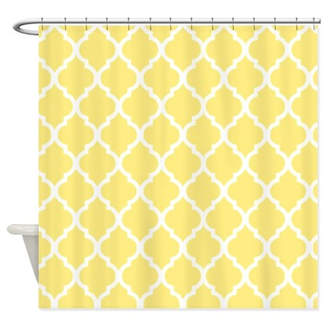 Bright yellow shower curtain 2
