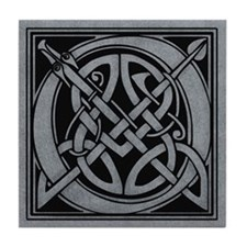 Celtic Monogram O Tile Coaster