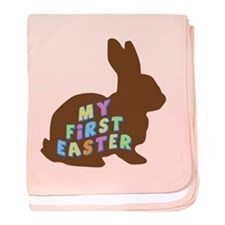 My First Easter Chocolate Bunny baby blanket