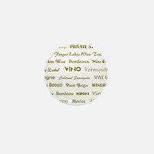 WINE WORDS Mini Button