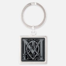 Celtic Monogram M Square Keychain