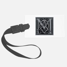 Celtic Monogram M Luggage Tag