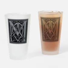 Celtic Monogram M Drinking Glass